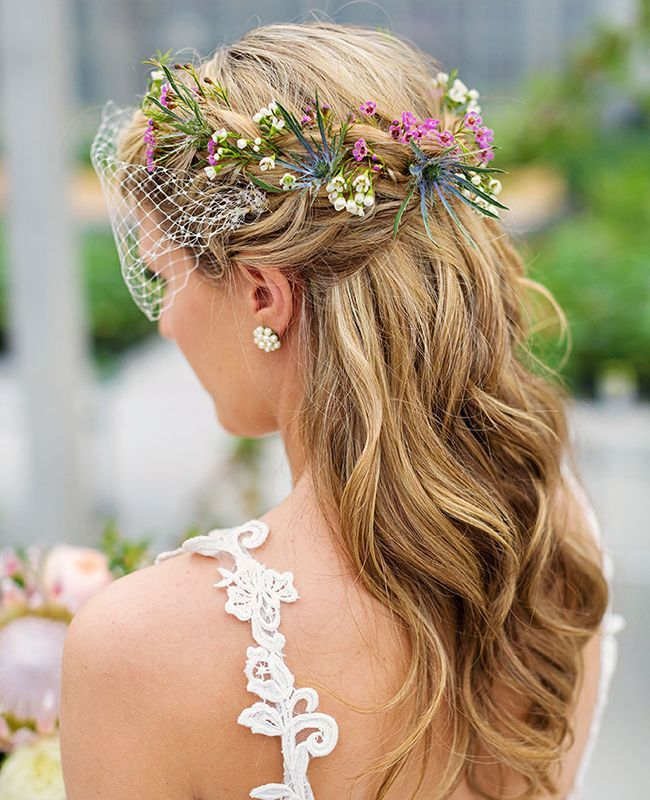Wedding Half-up Updo | Phrene Exquisite Photography | Blog.theknot.com