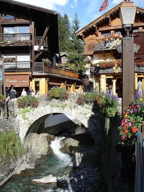 Consider by many one of the most beautiful ski-resorts in the world, Megève, France (by cpqs).