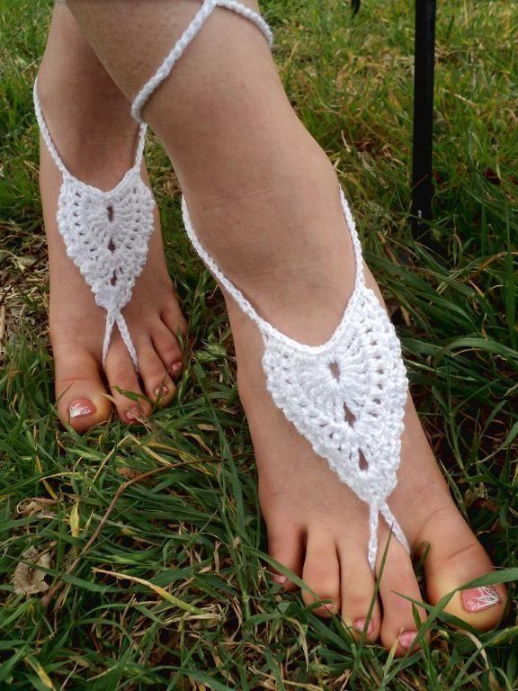 Mejores 12 imágenes de Crochet sandals en Pinterest | Patrones de ...