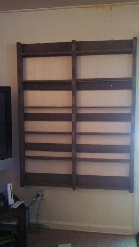 36 Best Images About Pallet Dvd Racks On Pinterest