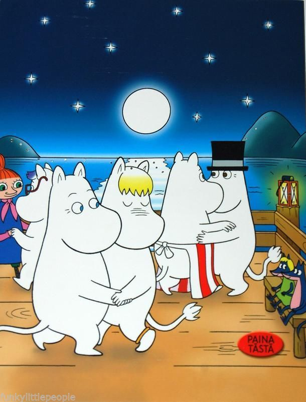 Moomin family dancing under the stars- card with flashing LED lights | £5.00 Buy it now