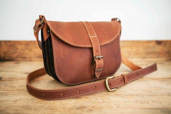 MESSENGER BAG // Brown leather bag // Satchel Leather by KURTIK