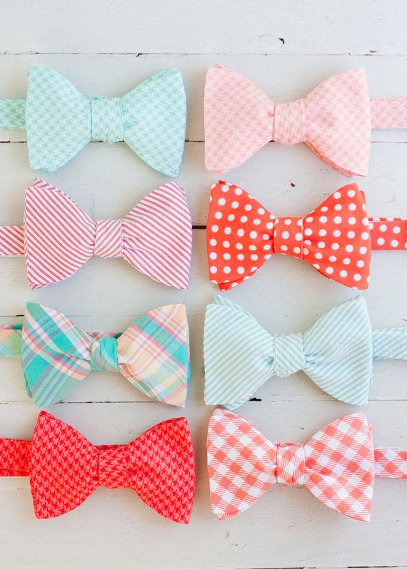 The Beau men's coral/peach/mint collection by thebelleandthebeau, $36.00