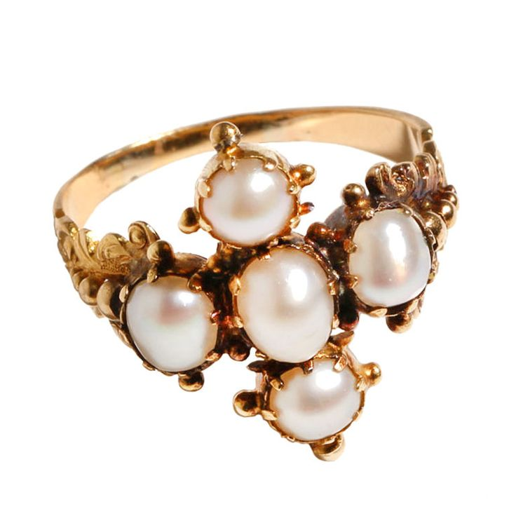 Georgian era pearl ring.  I don't usually go for pearls, but I seem drawn to Georgian jewelry for some reason...