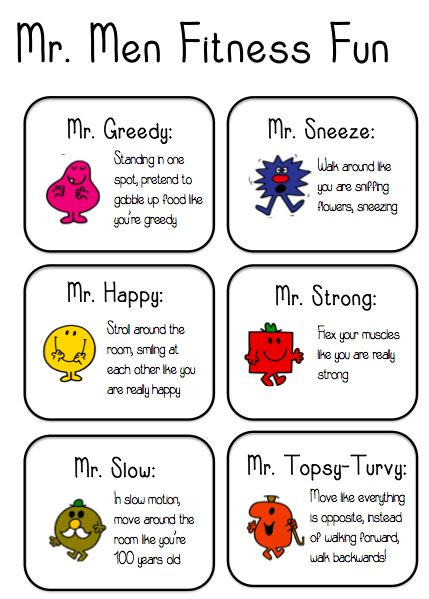 Mr Men fitness fun - A fun fitness game to get kids moving!