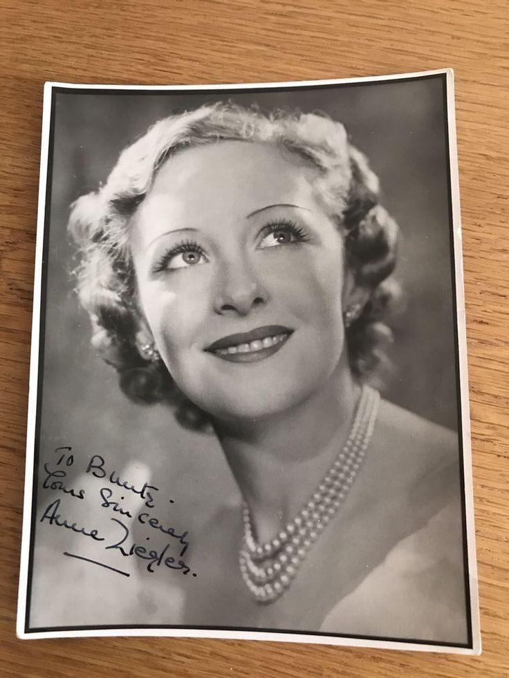 Anne Ziegler Signed Photo Autograph M10028