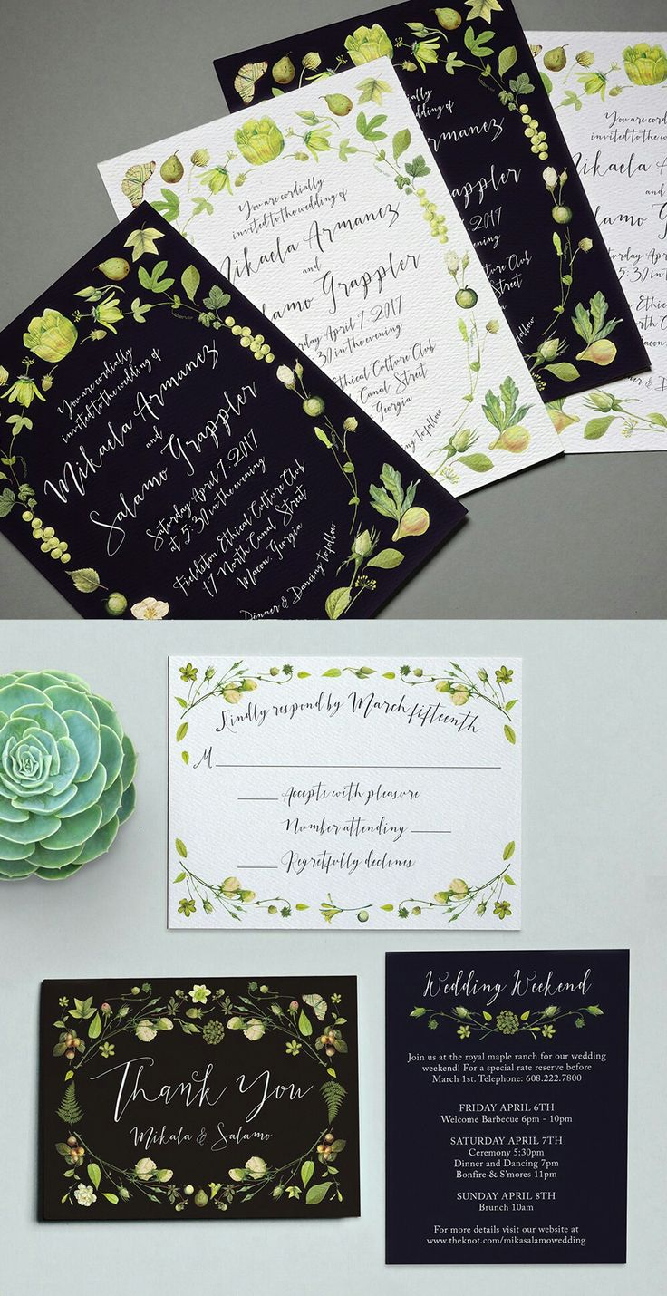 in wedding invitations is the man s name first%0A This New Line from Printable Press Is Fresh as Hell