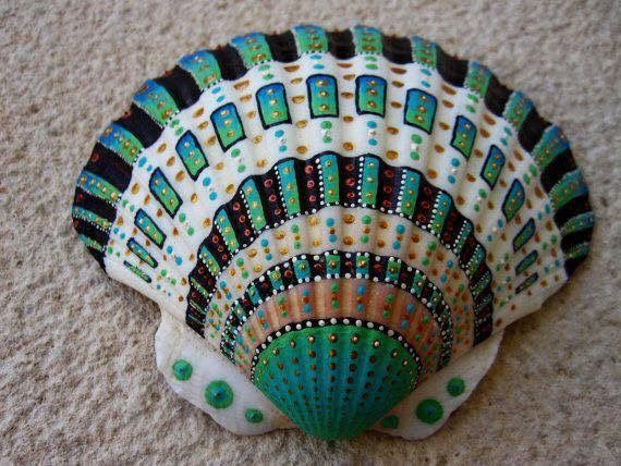 Ornamented seashell