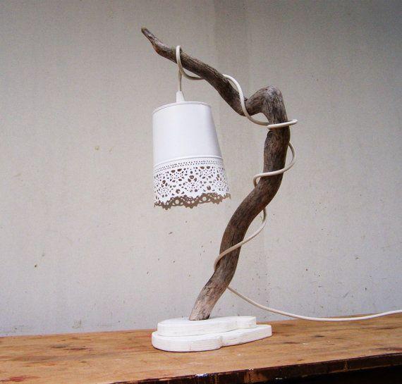 Driftwood Handmade lamp Unique Driftwood sculpture by TassoStudio, $95.00