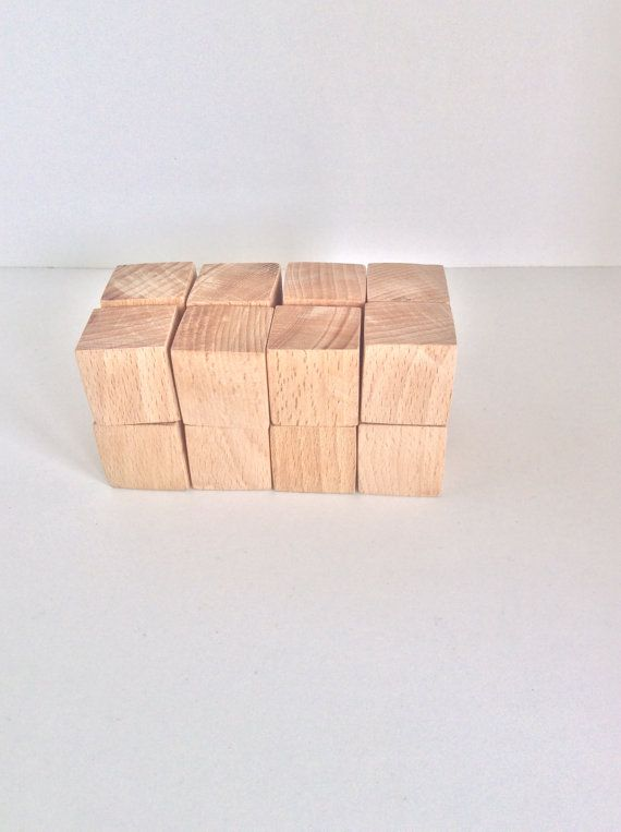 1 inch Wooden Blocks  Unfinished Wooden Cubes  Wood by beigebois