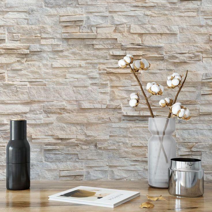 Die Besten 25+ Steinoptik Wand Ideen Auf Pinterest Steinoptik   Mediterrane  Wandgestaltung
