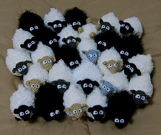 "Mini Sheep - Free Amigurumi Pattern PDF Pattern ( click ""download"" or ""free Ravelry download"") here: http://www.ravelry.com/patterns/library/mini-sheep"