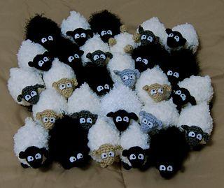 mini sheep free crochet pattern by Brenna Eaves