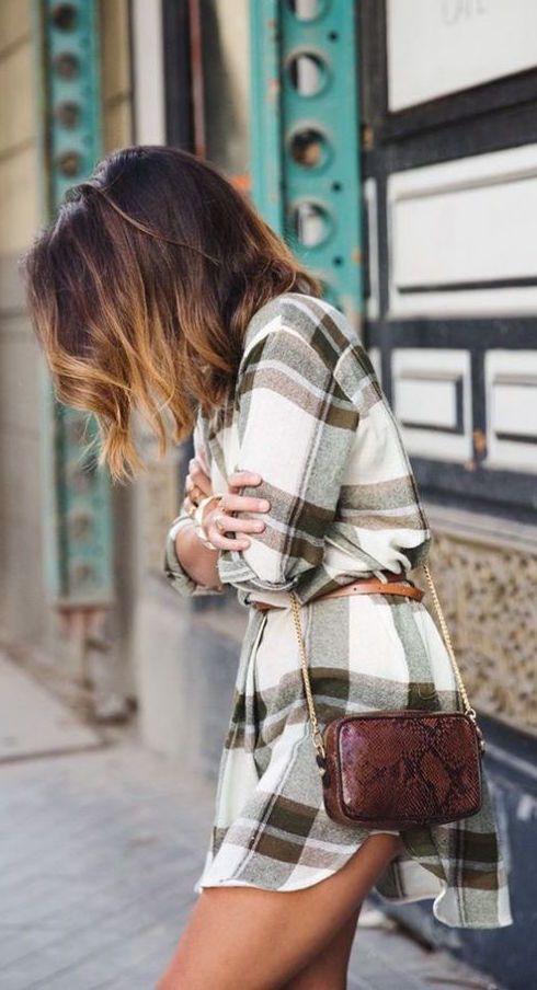 #fall #fashion / plaid dress