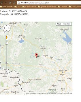 Get Location from MCC, MNC, LAC by using open cell id api. Also show it on map once you get latitude and longitude.