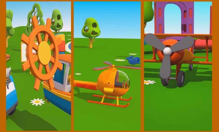 Cartoni Animati per bambini: Leo il Camion Curioso gioca con i mezzi di ...