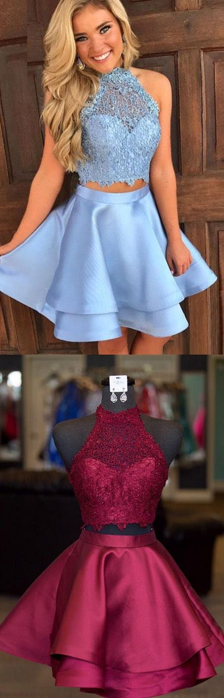 Two Pieces Prom Dresses 2017, Prom Dresses 2017, S… -  Prom shopping is alive and well on Pinterest. Compare prices for this @ Wrhel.com before you commit to buy. #Prom