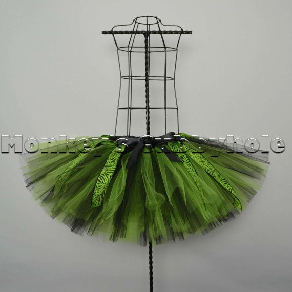 Envious Green Zebra Tutu by MonkeysCubbyhole on Etsy