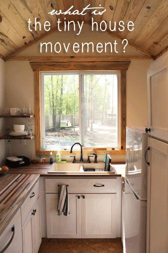 A Tiny House kitchen and article on the Tiny House movement by Andrew Odom, via SustainableBabySteps.com