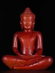 "Teca madera Dhyana Mudra Khmer estatua de Buda 12 """