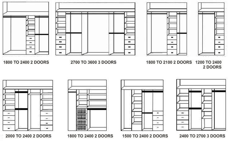 Wardrobe layouts