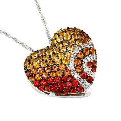 *~ #Fancy #Sapphire #Diamond #HEART with #WhiteGold #Pendant #Necklace~ *