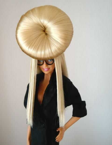 Lady Gaga Barbie doll.     Can't wait until she's on the cover of Vogue. Should be, oh yes, every month...
