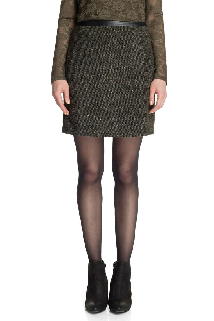 Esprit - - glinsterende tweed rok
