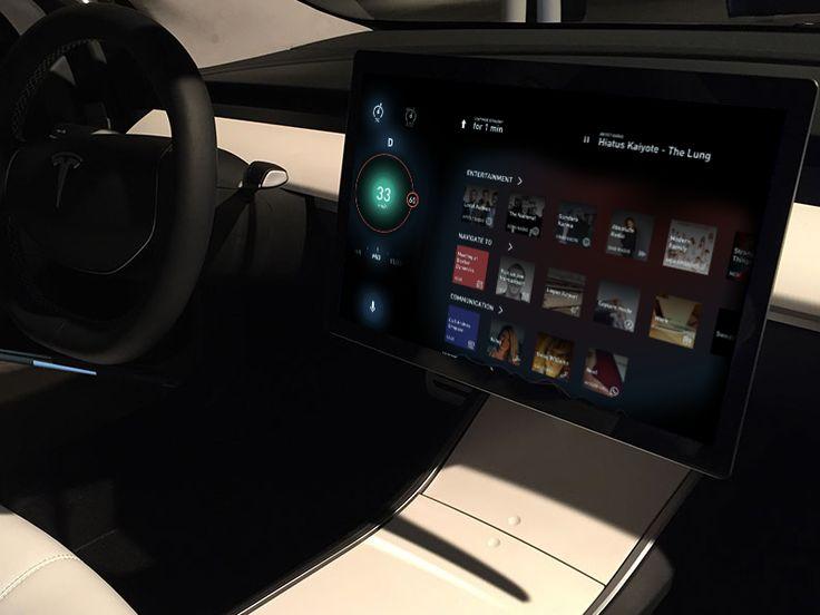 Day 8 - Tesla Model 3 UX & UI