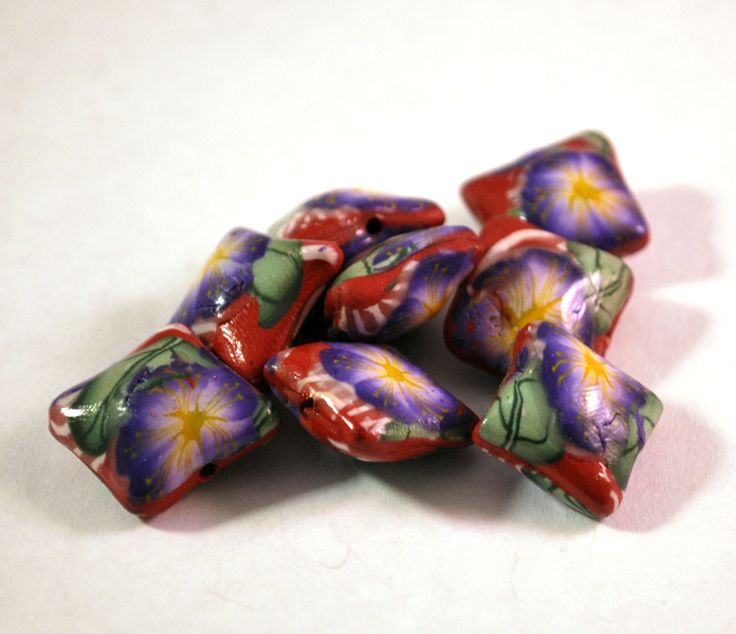 Handmade Polymer Clay #Beads , Polymer Clay Beads for Sale, Jewelry Making Supplies, Pillow Beads