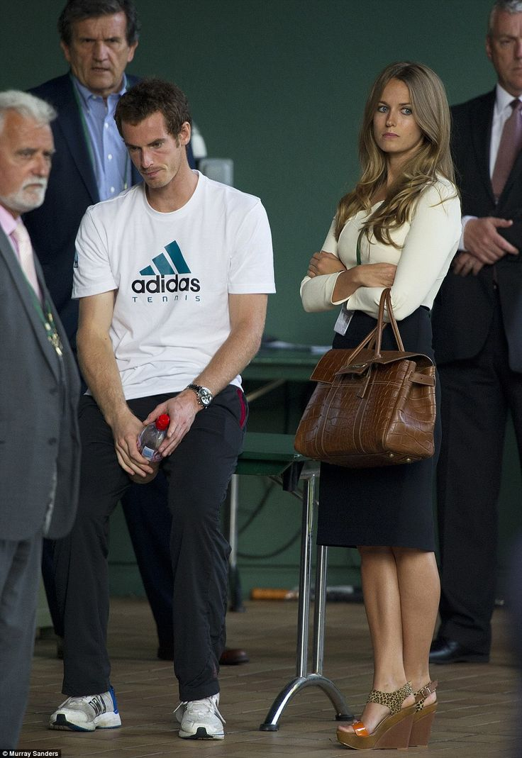 Downcast: The faces of Andy Murray and his girlfriend Kim Sears say it all after his defeat