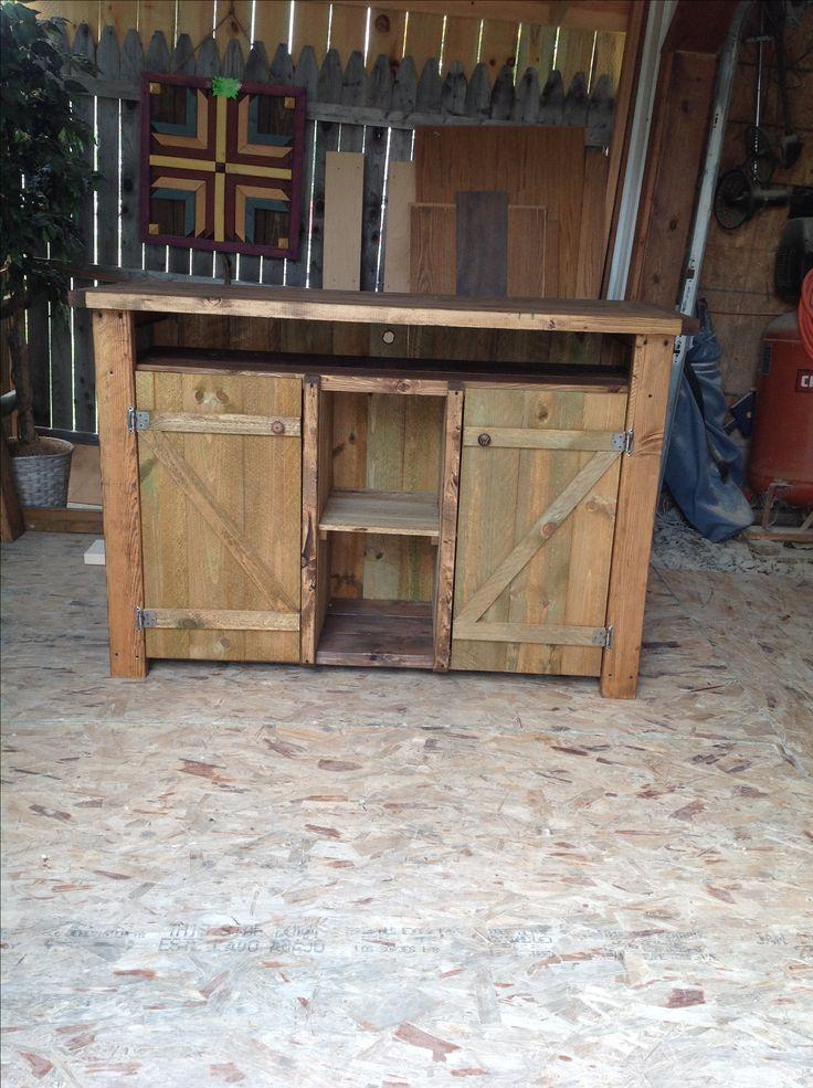 Rustic Entertainment Center Custom Built At Wooden Wonders Waveland, Indiana