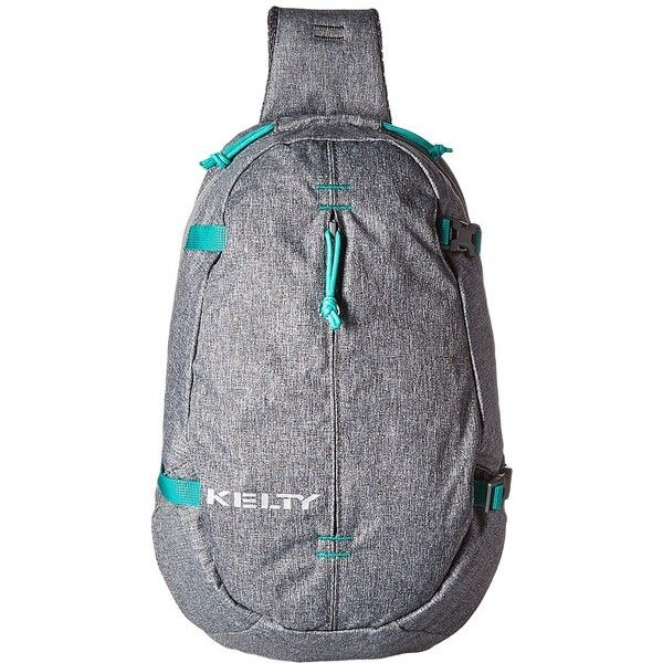 Kelty Versant Sling (Smoke) Backpack Bags ($50) ❤ liked on Polyvore featuring bags, backpacks, kelty daypack, zipper bag, one strap backpack, sling strap backpack and one strap sling backpack