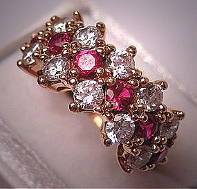 My favorite combination -- rubies and diamonds! Vintage Ruby and Diamond Wedding Ring!!!