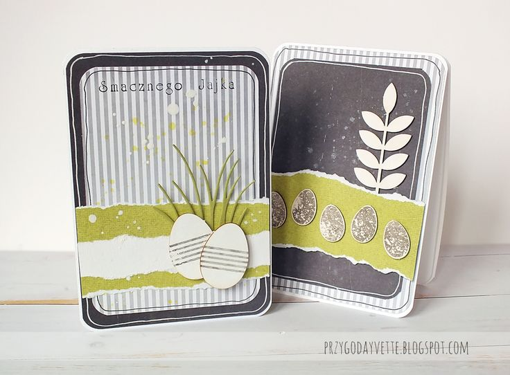 black and white stripes / easter cards