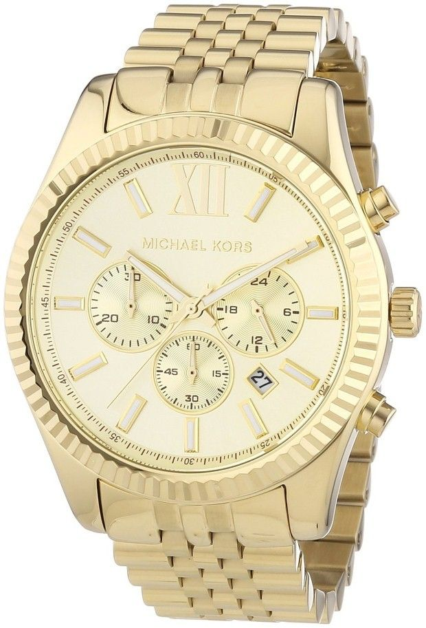 Gold men watches : Gold watches for men Michael Kors