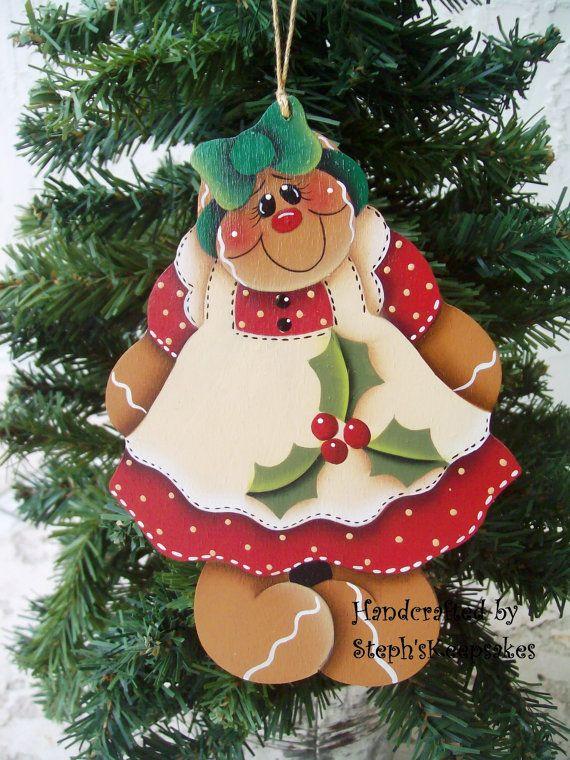 Handpainted  Christmas Gingerbread  Cookie by stephskeepsakes, $8.49