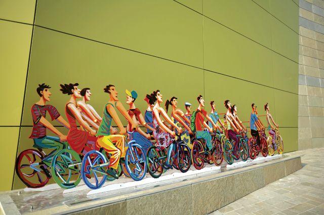 David Gerstein, out door sculpture, Seoul, Korea