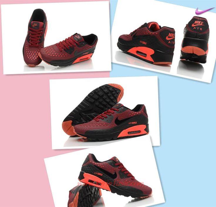 Buy Cheap Nike Air Max 90 Ultra BR Dark Red Black 725222-600 ZPNH5A