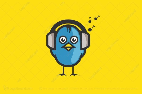 Logo for sale: Bird Beats Logo