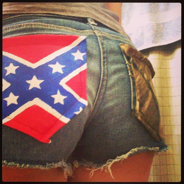 Camo and rebel flag pocket shorts ❤