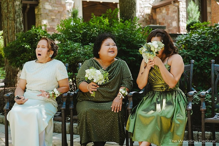 Yawn - Mothers of the bride and groom await for the ceremony #PAweddingphotos