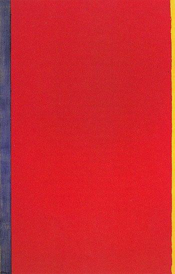 Barnett Newman - Who's Afraid of Red, Yellow and Blue. Barnett Newman was an American artist. He is seen as one of the major figures in abstract expressionism and one of the foremost of the color field painters..