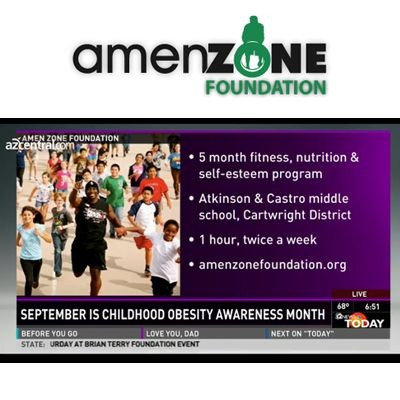 [VIDEO] Childhood obesity awareness AmenZone Foundation - Get's Local Youth Moving