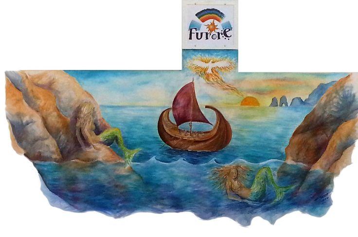 #Murales di #Furore - Il mito delle #sirene - #furorepaesedipinto #amalficoast