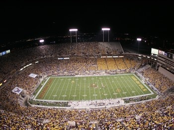 Sun Devil Stadium, in Tempe Arizona --- many Cowboys vs Cardinals games when the Cards still played there