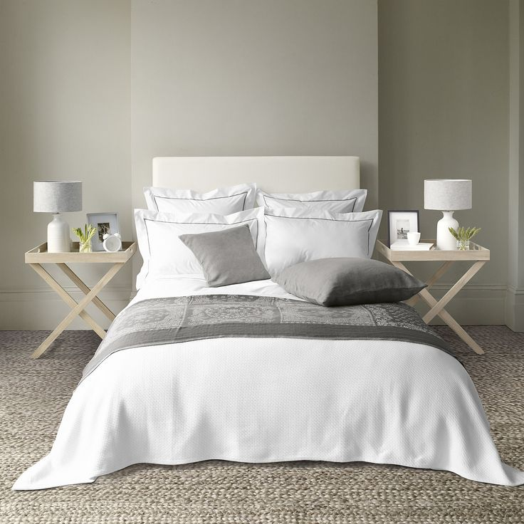 bedroom styling | Savoy Bed Linen Collection - Mink  from The White Company