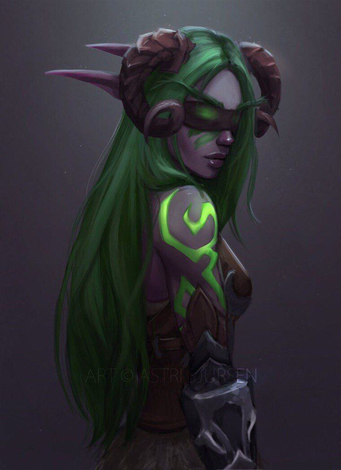 I made a demon hunter that's a bit similar to this one but not quite.