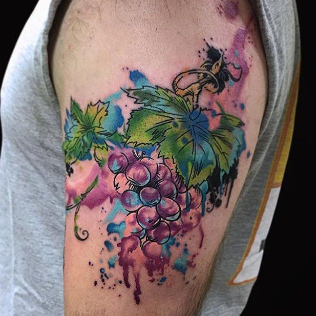 10 Best Grape Vine Tattoo Images On Pinterest