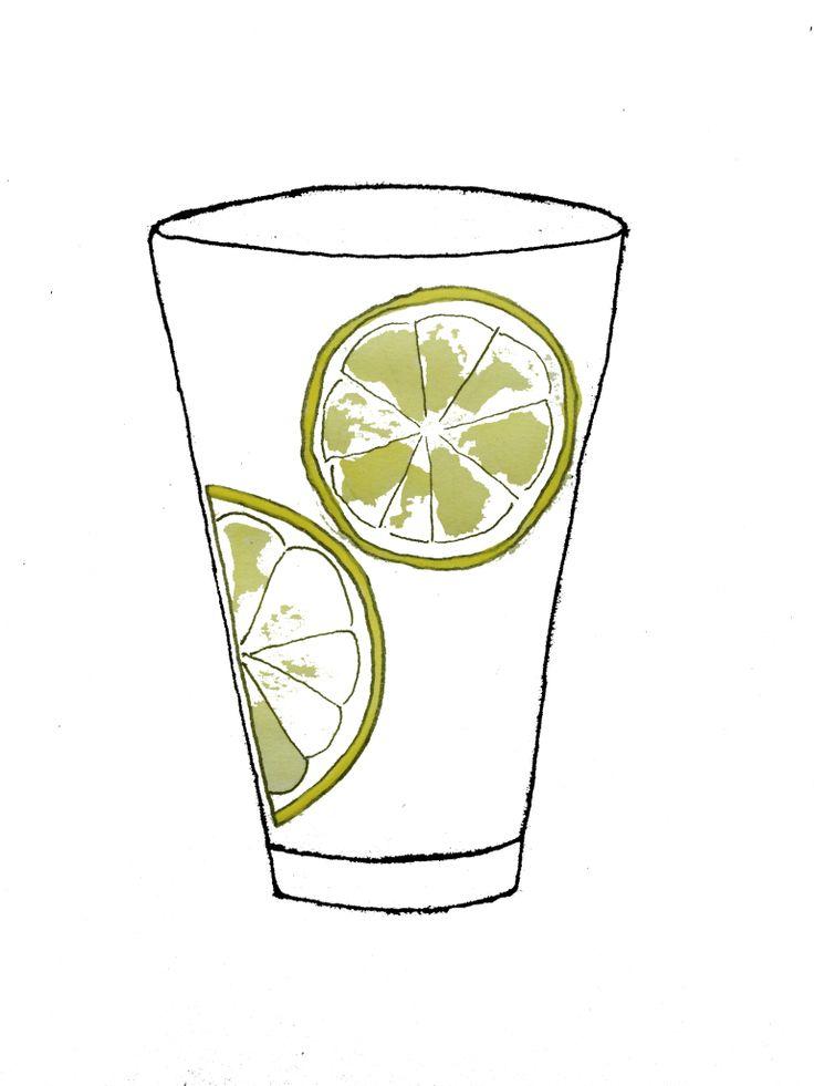 Lemon water illustration by Ana for Better Than Ann
